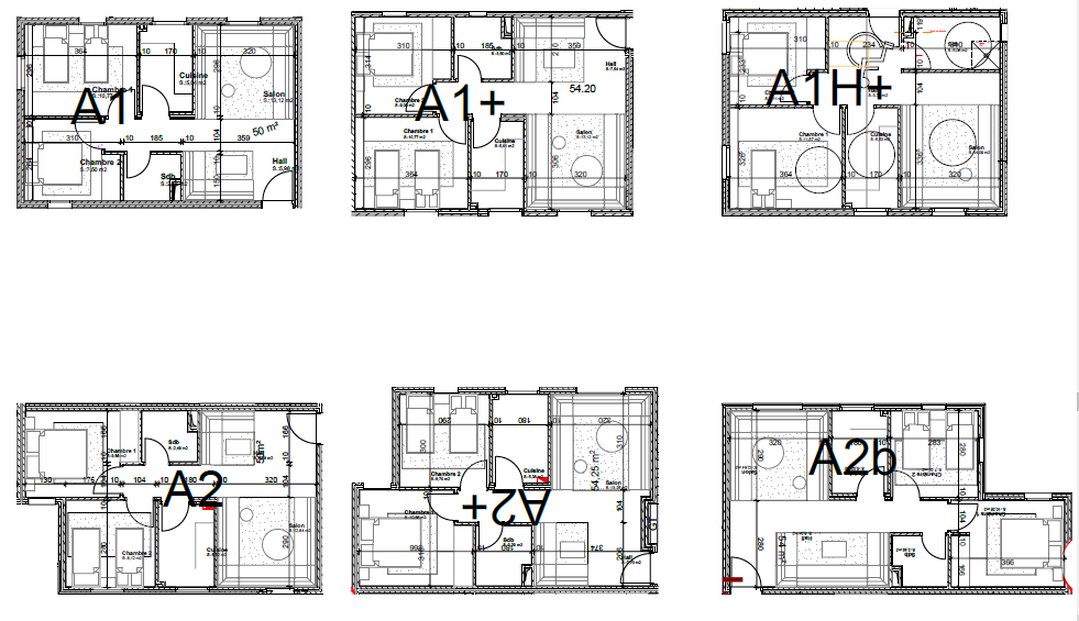 The plan of the apartments